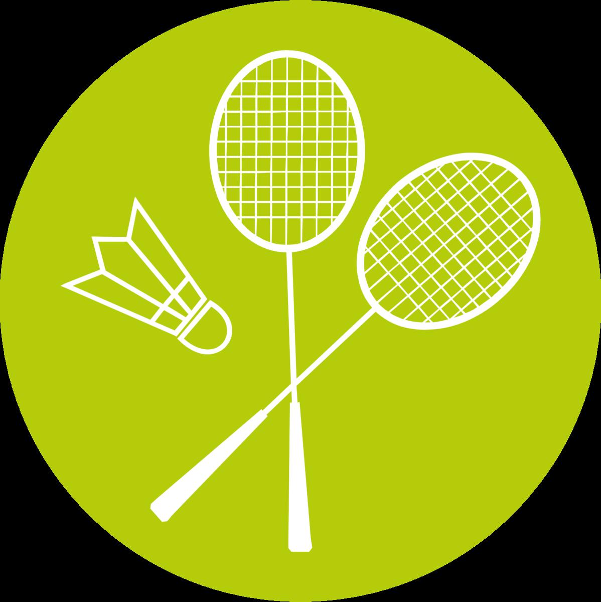 Badminton in der Tennishalle