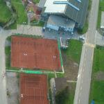 Tennishalle Luftaufnahme